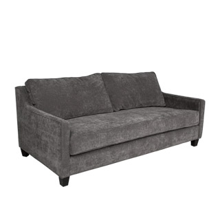 "72""w x 36.5""d Grey Velvet Upholstered Sofa SOF012202"