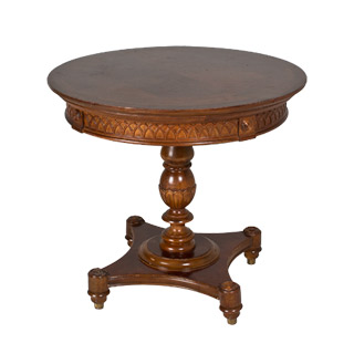 "29.5""dia Embossed Cherry Round Dining Table TBL001317"