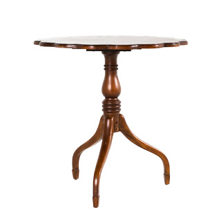 "28""dia Cherry Round Side Table TBL004672"