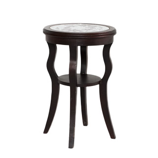 "16""dia Mahogany Round Side Table TBL009872"