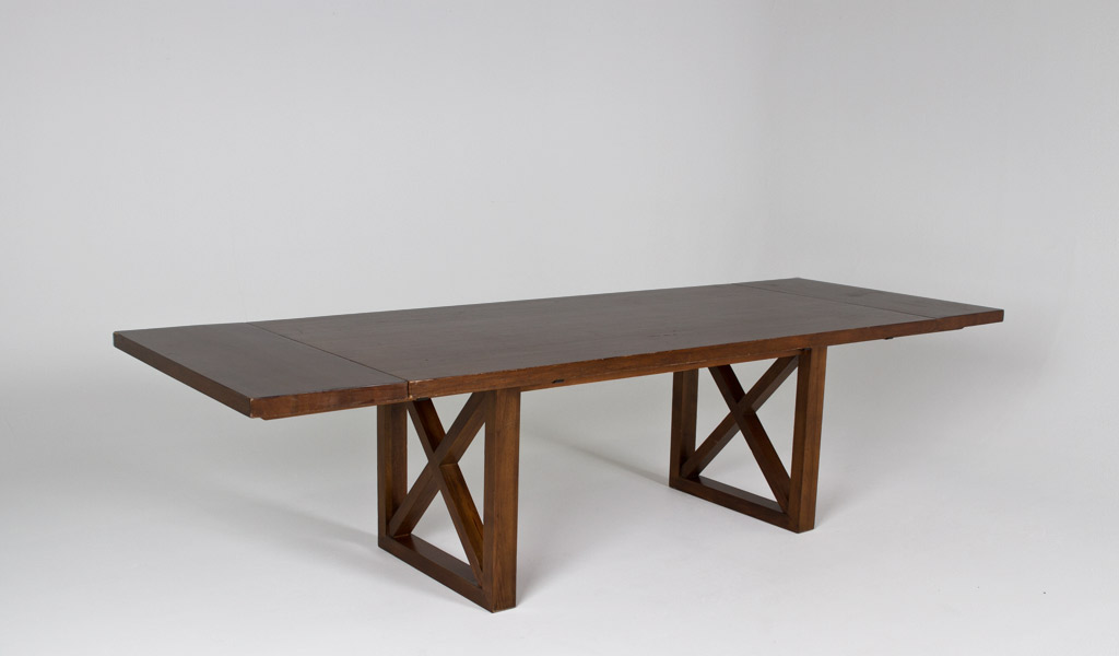 "82""w - 114""w x 40""d Walnut Expandable Dining Table TBL010296"