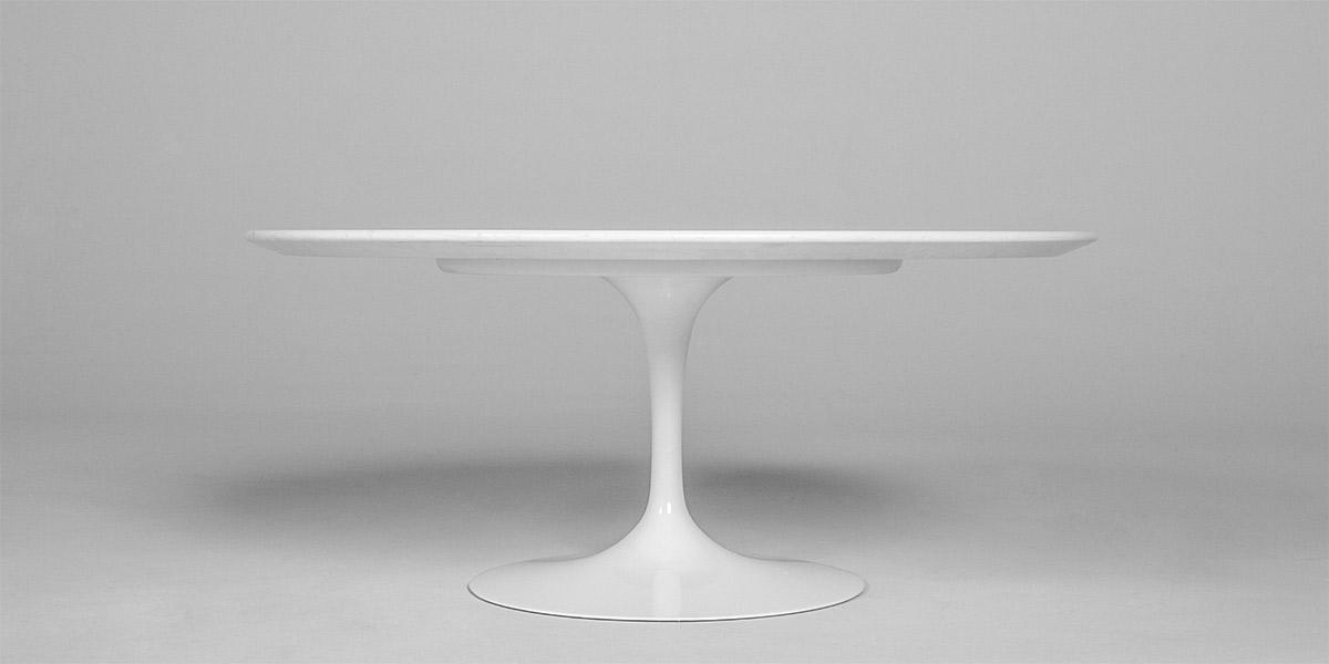 """36""""dia White Round Saarinen Coffee Table TBL012427"""