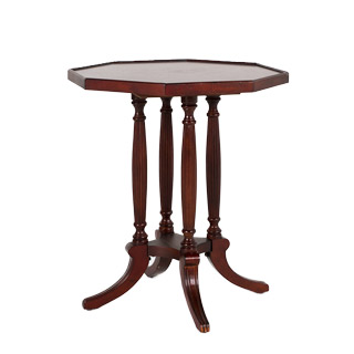 "22""w x 22""d Dark Cherry Octagon Side Table TBL012500"