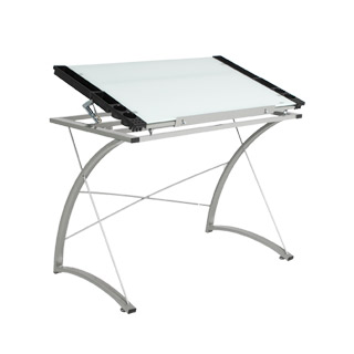 "40.75""w x 23.75""d Metal Drafting Table TBL012746"