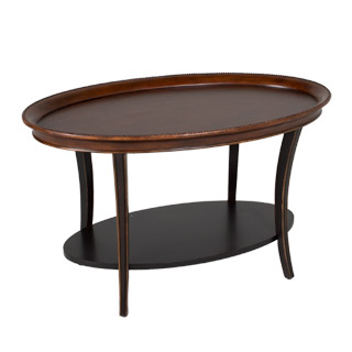 "38""w x 24""d Cherry Oval Coffee Table TBL012837"