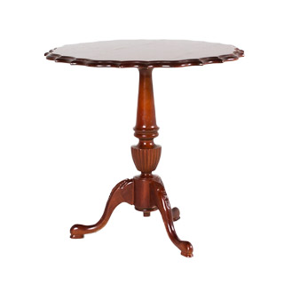 "25""dia Mahogany Round Side Table TBL003176"