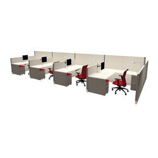 Call-Center Cubicle