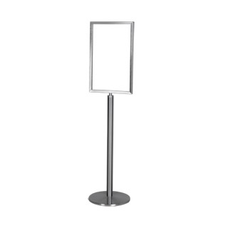 "57""h Brushed Aluminum Sign Stanchion MIS012912"