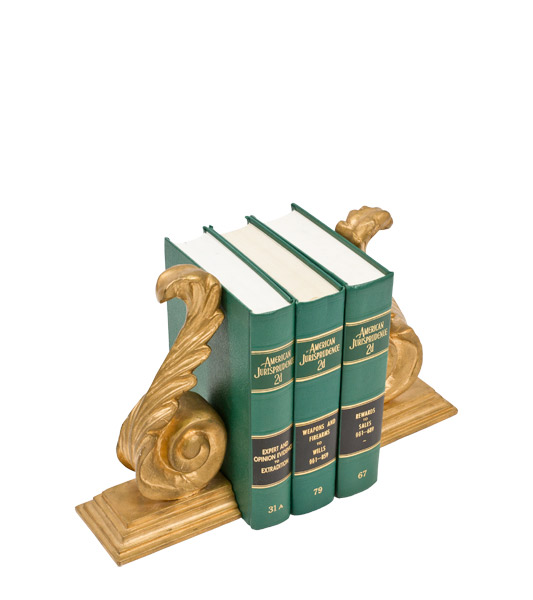 "11""h Gold Bookends ACC000641"