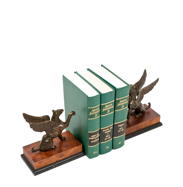 "8""h Bronze Bookends ACC000666"