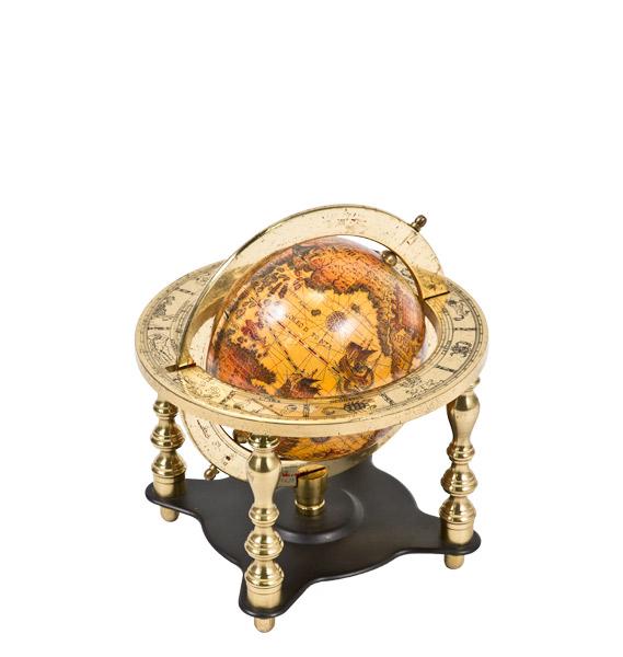 "16""h Brass Globe ACC000872"