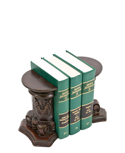 "9""h Dark Mahogany Bookends ACC001621"