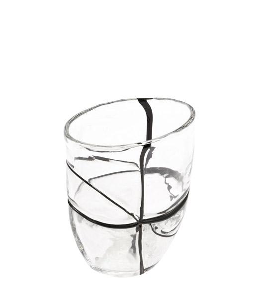 "7.5""h Glass Vase ACC007274"