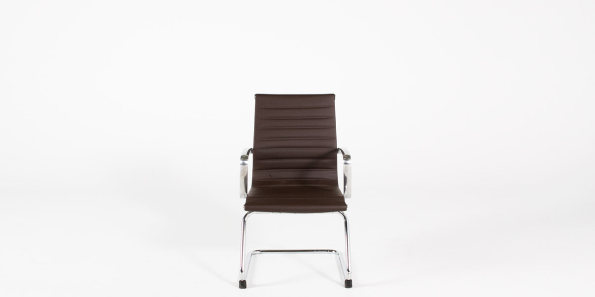Brown Leather Eames Guest Chair CHR013051