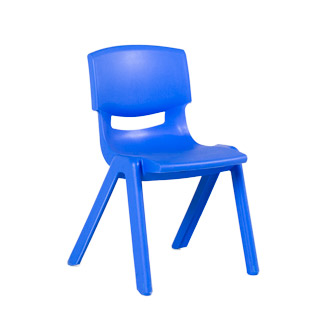 Blue Resin Children's Stack Chair CHR013088