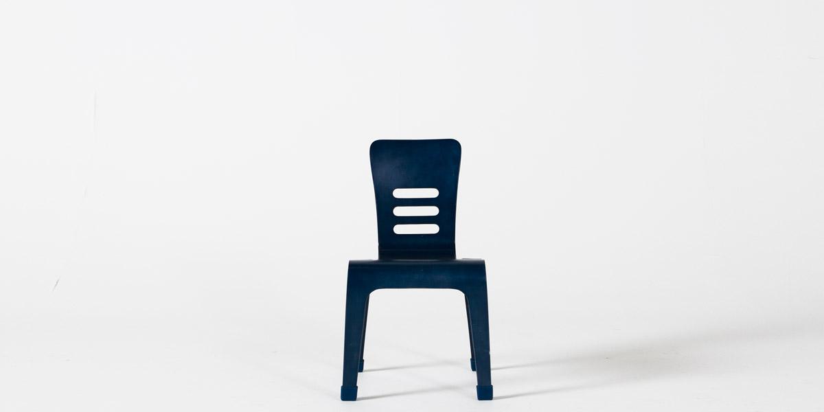 Navy Blue Children's Stack Chair CHR013095