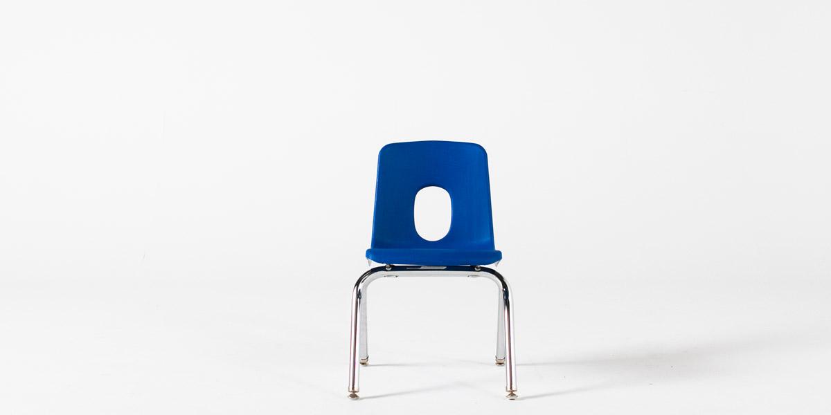 Blue Poly Shel Children's Stack Chair CHR013097