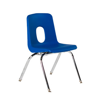 Blue Poly Shel Children's Stack Chair CHR013097