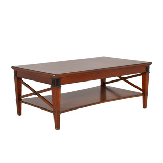 "50""w x 30""d Medium Cherry Biedermeier Coffee Table TBL000254"