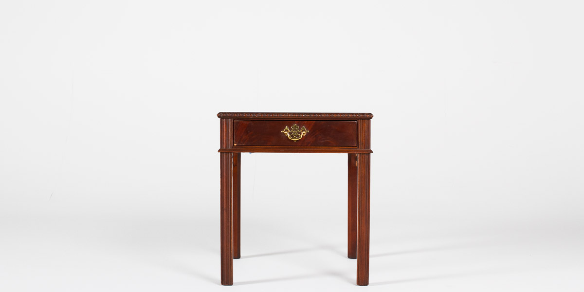 "21""w x 25""d Mahogany Sheraton Side Table TBL000996"