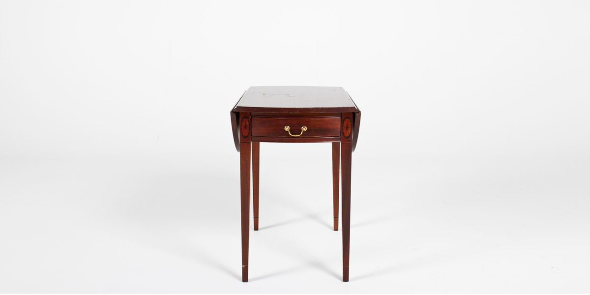"19.25""w - 35""w x 28""d Medium Cherry Side Table TBL001021"