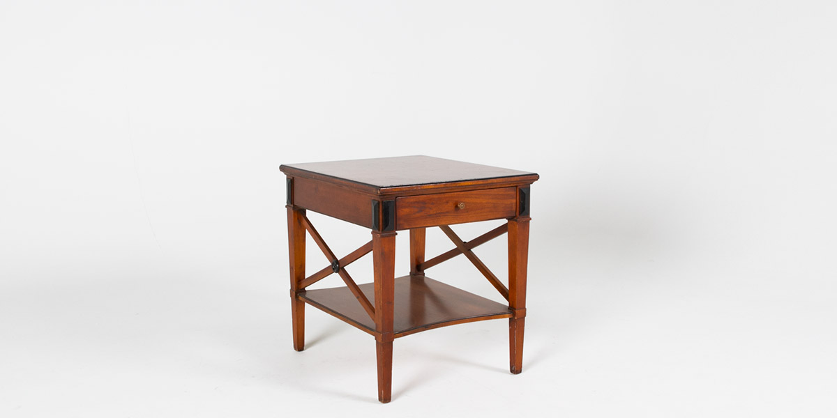"23""w x 27""d Medium Cherry Biedermeier Side Table TBL001022"