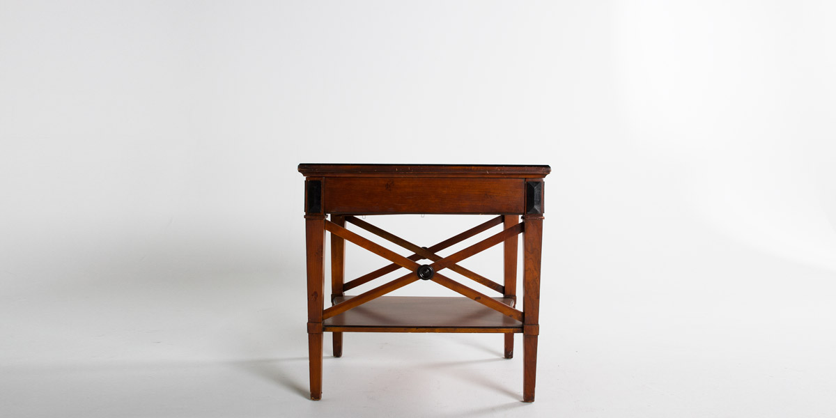 "23""w x 27""d Medium Cherry Biedermeier Side Table TBL001022"