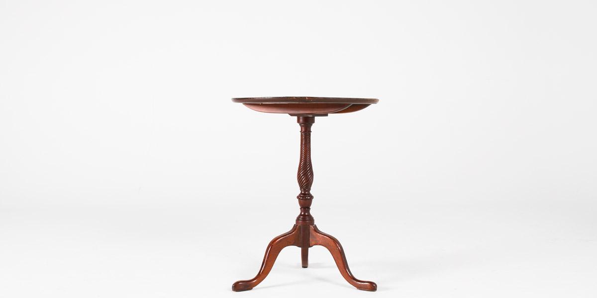 """22""""dia Dark Mahogany Round Side Table TBL001041"""