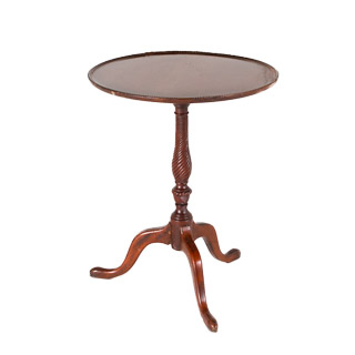 "22""dia Dark Mahogany Round Side Table TBL001041"