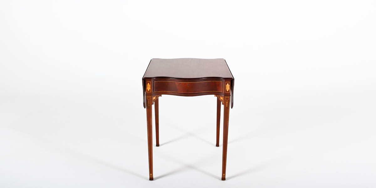 "38""w x 26.5""d Medium Cherry Side Table TBL001264"