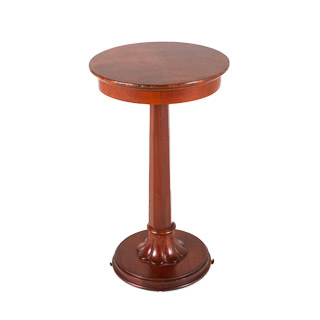 "16""dia Cherry Round Side Table TBL001318"