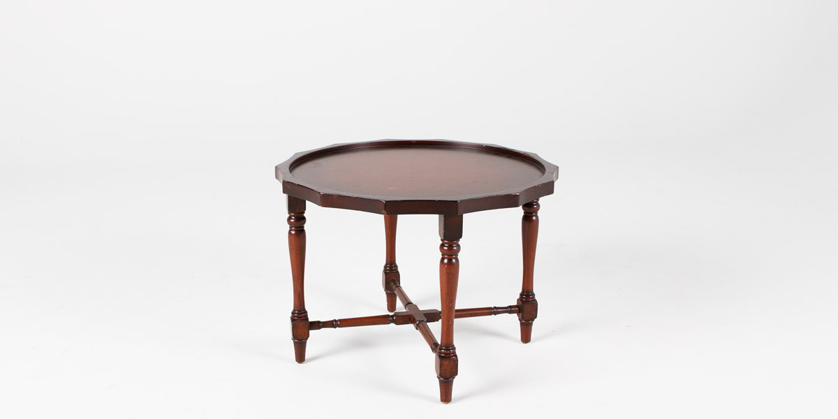 "25.5""dia Traditional Mahogany Round Side Table TBL006051"