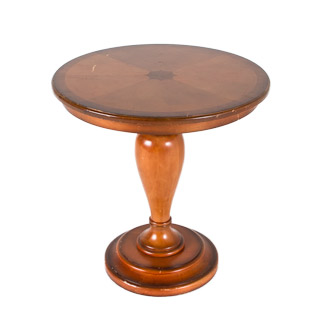 "24.5""dia Mahogany Round Side Table TBL006075"