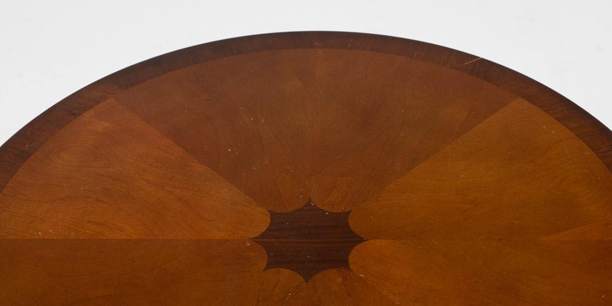 """24.5""""dia Mahogany Round Side Table TBL006075"""