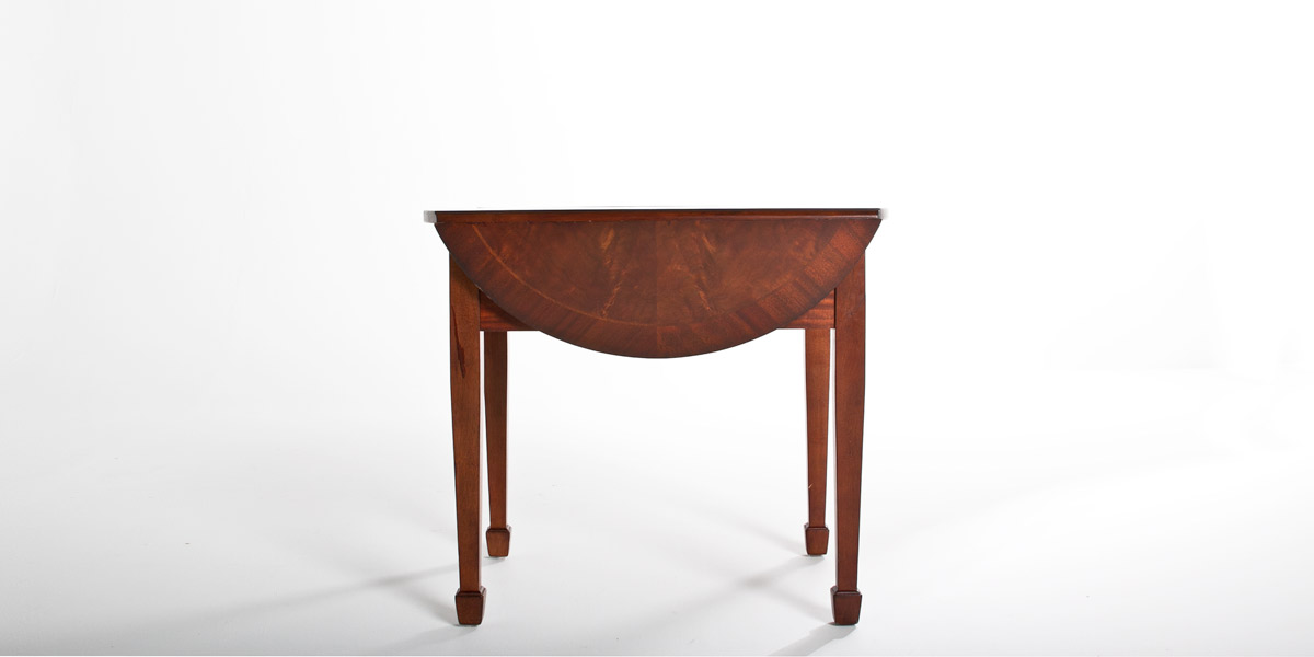 "36""w x 31""d Mahogany Oval Side Table TBL007544"