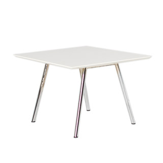"24""w x 24""d White Laminate Side Table TBL009675"