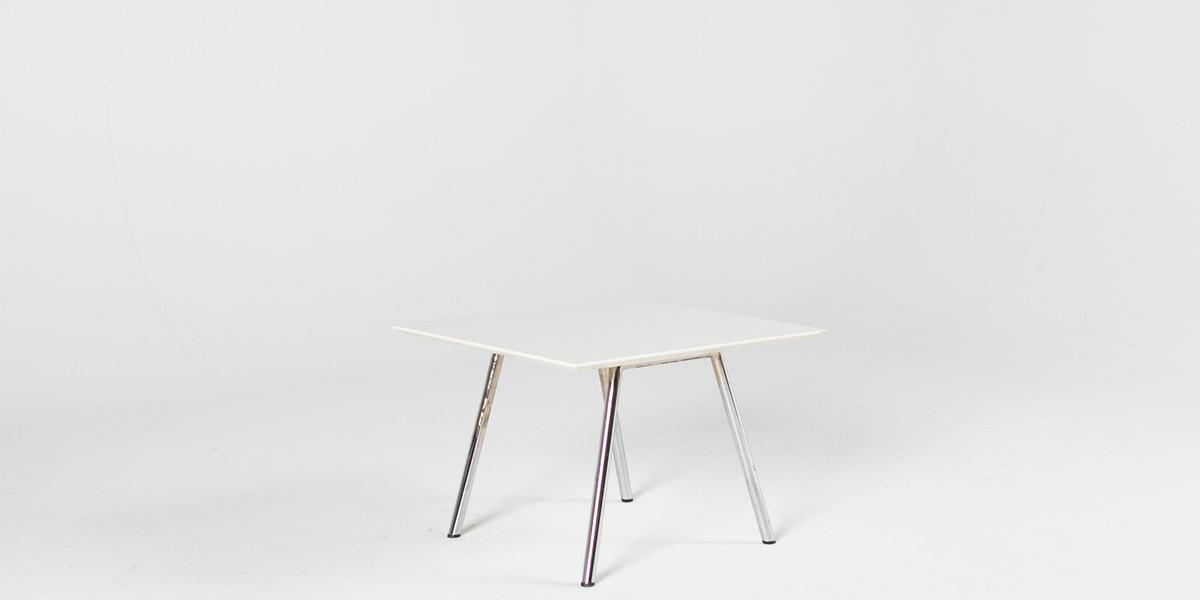 "24""w x 24""d White Laminate Side Table TBL009675"