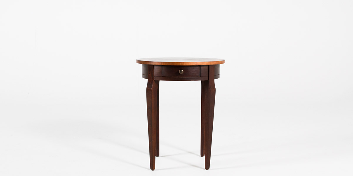 "20""dia Cherry Round Side Table TBL012501"