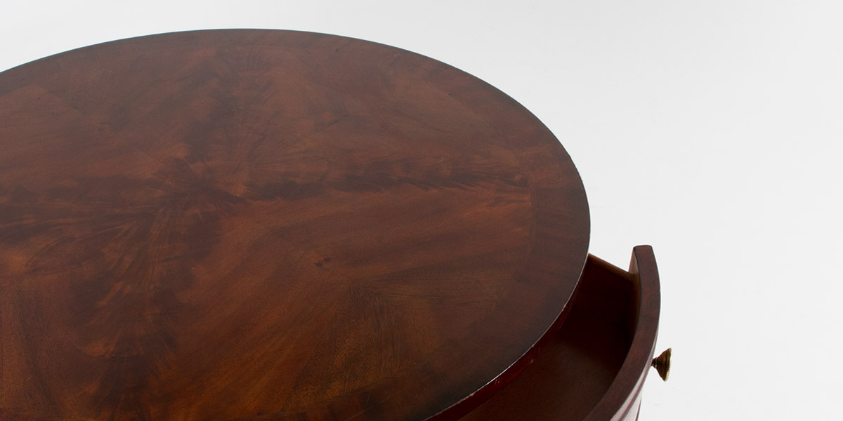"30""dia Traditional Mahogany Round Side Table TBR007541"
