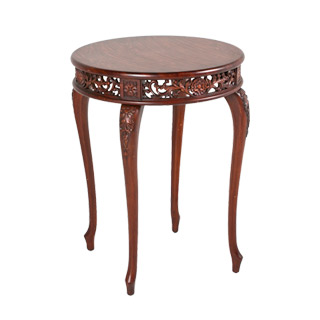 "22.5""dia Dark Cherry Round Side Table TBR009249"
