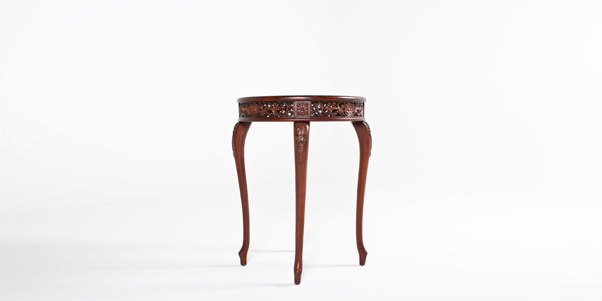 """22.5""""dia Dark Cherry Round Side Table TBR009249"""