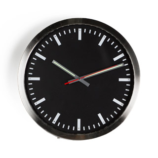 "16""dia Nickel Chrome Clock ACC009973"