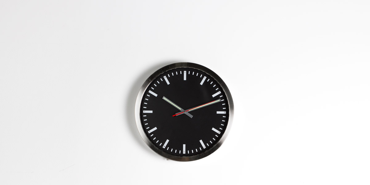 "16""dia Nickel Chrome Clock ACC009973"