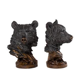 "12""h Black Statue ACC013140"