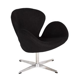 Black Fabric Swan Chair CHR012647