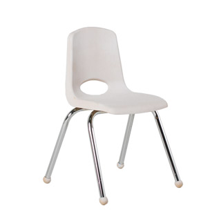 White Plastic Children's Stack Chair CHR013099