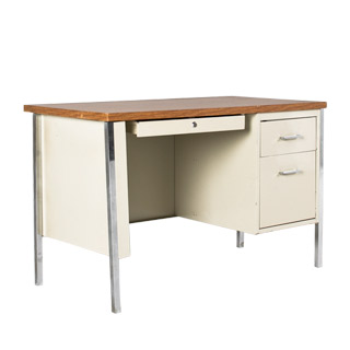 "45""w x 24""d Putty Metal Desk DSK011893"