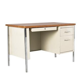 """45""""w x 24""""d Putty Metal Desk DSK011893"""