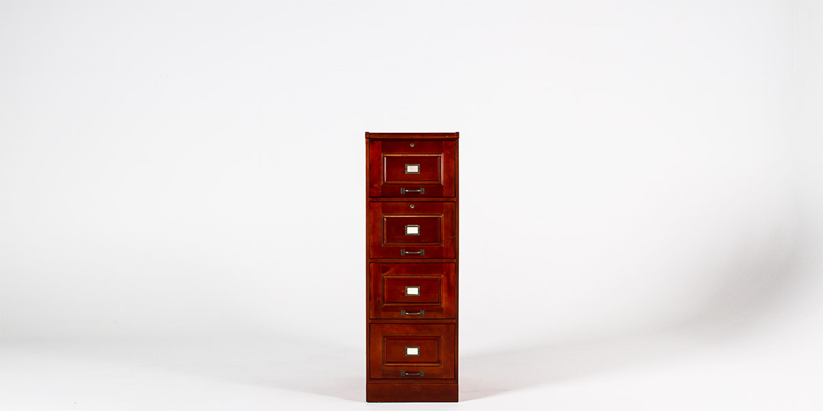 "19""w x 22""d Cherry Vertical File FIL011646"