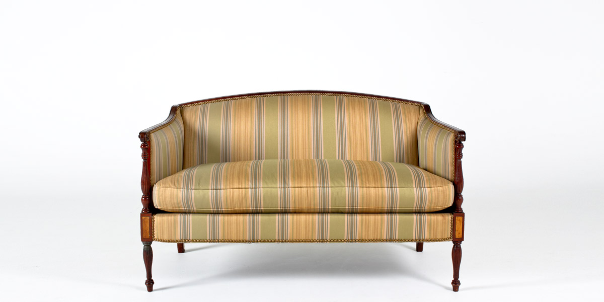 "54""w x 29""d Striped Fabric Sheraton Loveseat LVS001712"
